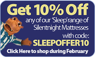 10% Off any Silentnight 'Sleep' Mattress with code SLEEPOFFER10