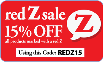15% off all items marked with a red Z - code REDZ15