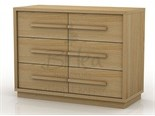 Atlanta 6 Drawer Wide Chest Oak
