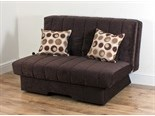 Dover Sofa Bed (Louisa Chocolate with Pegasus Chocolate Cushions)