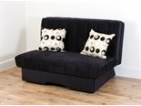 Dover Sofa Bed (Louisa Black with Pegasus Black Cushions)