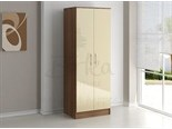 Lynx 2 Door Wardrobe Walnut and Cream