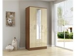 Lynx 3 Door 2 Drawer Wardrobe Walnut And Cream