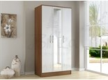 Lynx 3 Door Wardrobe Walnut And White