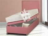 Sweet Dreams Ottoman Leather Pink Divan Base