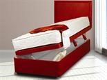 Sweet Dreams Ottoman Leather Red Divan Base