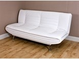 Sofia Clic Clac Faux Leather Sofa Bed with Memory Foam (White)