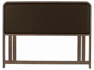 Bentley Designs Capri Walnut Upholstered 4 6 Double Walnut and Brown Headboard Only Wooden Headboard