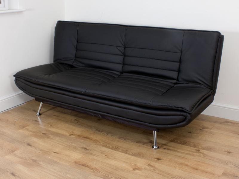The Snuggle Sofia Clic Clac Sofa Bed in Black sofa form
