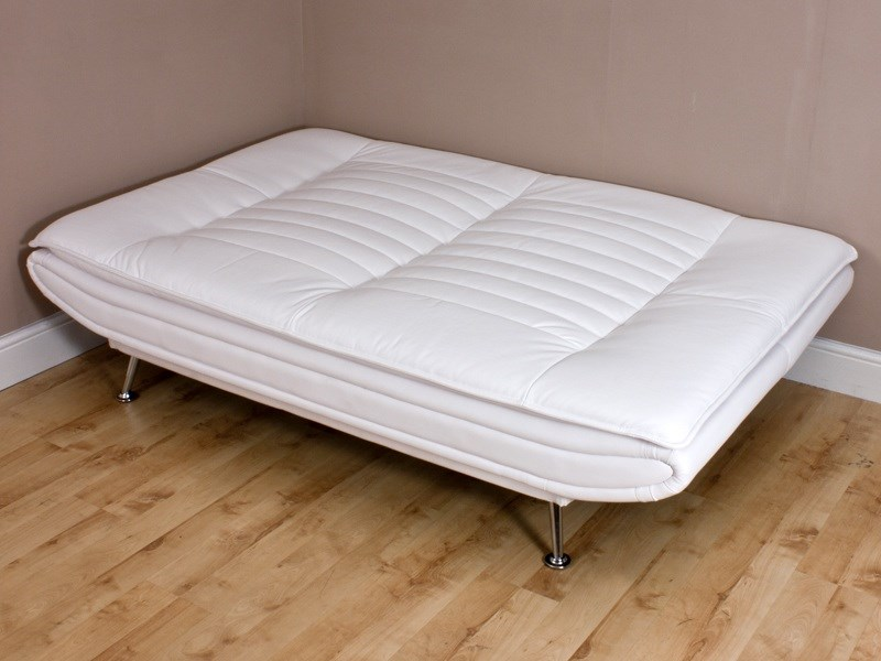 Sofia Clic Clac bed in white folded out