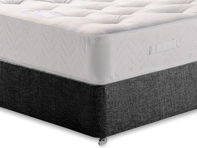 Healthopaedic Billionaire Ortho 5 King Size Mattress with Executive Black King Size No Drawers Divan Set