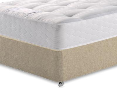 Sealy Backcare Firm 3 Single Mattress with Classic Mink Single Slide Store Divan Set