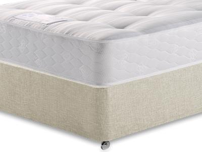 Sealy Backcare Firm 3 Single Mattress with Executive Barley Single 0 Drawer Divan Set