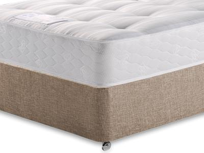 Sealy Backcare Firm 4 Small Double Mattress with Executive Biscuit Small Double No Drawers Divan Set
