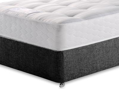 Sealy Backcare Firm 5 King Size Mattress with Executive Black King Size No Drawers Divan Set
