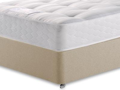 Sealy Backcare Firm 4 Small Double Mattress with Executive Sandstone Small Double 4 Drawer Divan Set