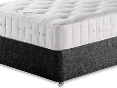 Hypnos Princess (Firm) 5 King Size Mattress with Executive Black King Size No Drawers Divan Set