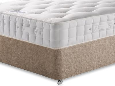 Hypnos Baronet (Firm) 4 6 Double Mattress with Executive Biscuit Double No Drawers Divan Set