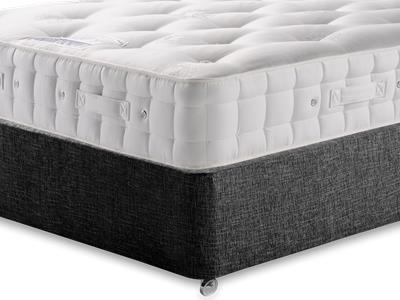 Hypnos Baronet (Firm) 5 King Size Mattress with Executive Black King Size No Drawers Divan Set