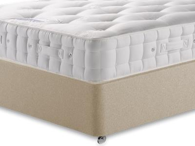 Hypnos Baronet (Firm) 5 King Size Mattress with Executive Sandstone King Size Full Ottoman Divan Set