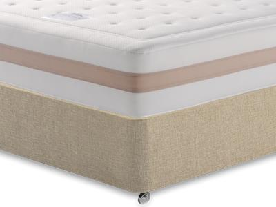 Relyon Memory Royale 1250 4 Small Double Mattress with Classic Mink Small Double Slide Store Divan Set