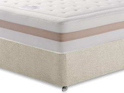 Relyon Memory Royale 1250 4 Small Double Mattress with Executive Barley Small Double 0 Drawer Divan Set