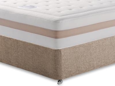 Relyon Memory Royale 1250 4 Small Double Mattress with Executive Biscuit Small Double No Drawers Divan Set