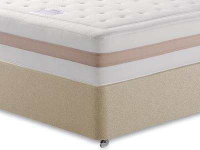 Relyon Memory Royale 1250 4 Small Double Mattress with Executive Sandstone Small Double 4 Drawer Divan Set