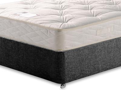 Myers Beds Maestro 5 King Size Mattress with Executive Black King Size No Drawers Divan Set