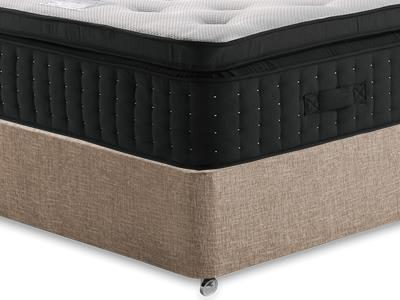Relyon Memory Supreme 2400 5 King Size Mattress with Executive Biscuit King Size No Drawers Divan Set