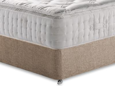 Relyon Natural Supreme 2200 4 6 Double Mattress with Executive Biscuit Double No Drawers Divan Set