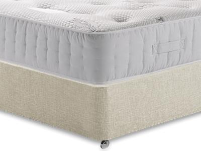 Healthopaedic Zero Gravity 1000 3 Single Mattress with Executive Barley Single 0 Drawer Divan Set