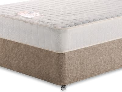 Snuggle Beds Memory Luxe 4 Small Double Mattress with Executive Biscuit Small Double No Drawers Divan Set