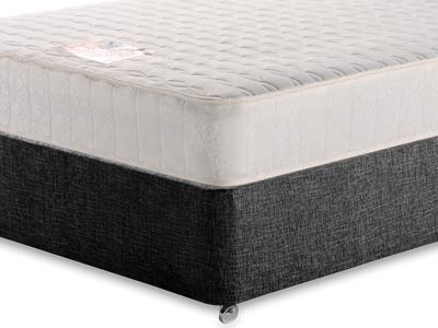 Snuggle Beds Memory Luxe 5 King Size Mattress with Executive Black King Size No Drawers Divan Set