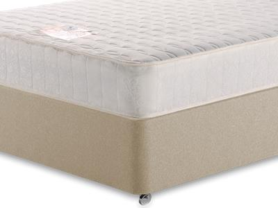 Snuggle Beds Memory Luxe 4 6 Double Mattress with Executive Sandstone Double 4 Drawer Divan Set