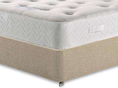 Healthopaedic Memory Pocket Deluxe 1000 3 Single Mattress with Classic Mink Single Slide Store Divan Set
