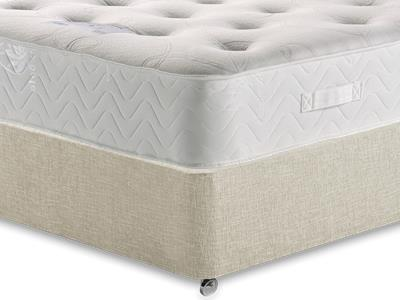 Healthopaedic Memory Pocket Deluxe 1000 3 Single Mattress with Executive Barley Single 0 Drawer Divan Set