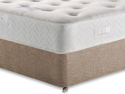 Healthopaedic Memory Pocket Deluxe 1000 4 Small Double Mattress with Executive Biscuit Small Double No Drawers Divan Set