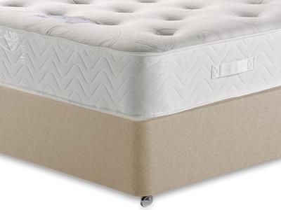 Healthopaedic Memory Pocket Deluxe 1000 4 6 Double Mattress with Executive Sandstone Double 4 Drawer Divan Set
