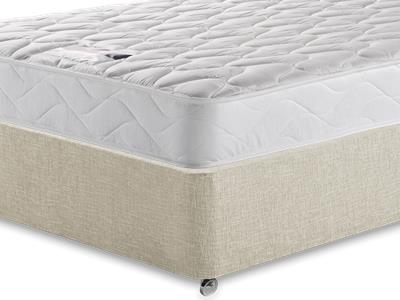 Silentnight Special Sleep 3 Single Mattress with Executive Barley Single 0 Drawer Divan Set