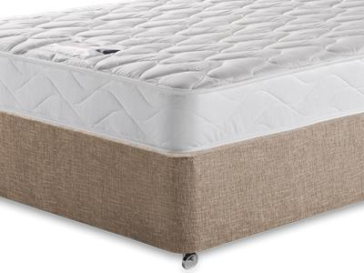 Silentnight Special Sleep 4 Small Double Mattress with Executive Biscuit Small Double No Drawers Divan Set