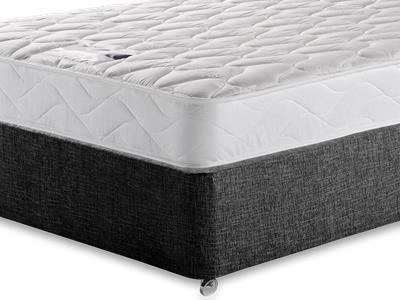 Silentnight Special Sleep 5 King Size Mattress with Executive Black King Size No Drawers Divan Set