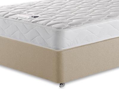 Silentnight Special Sleep 4 Small Double Mattress with Executive Sandstone Small Double 4 Drawer Divan Set