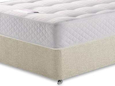 Silentnight Ortho Sleep 3 Single Mattress with Executive Barley Single 0 Drawer Divan Set