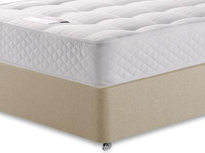 Silentnight Ortho Sleep 4 6 Double Mattress with Executive Sandstone Double 4 Drawer Divan Set