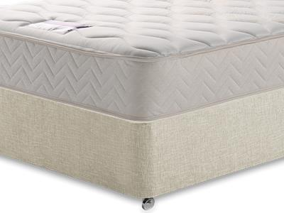 Silentnight Memory Sleep 3 Single Mattress with Executive Barley Single 0 Drawer Divan Set