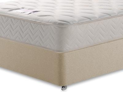 Silentnight Memory Sleep 4 6 Double Mattress with Executive Sandstone Double 4 Drawer Divan Set