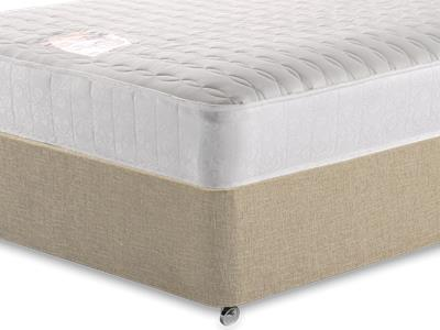 Snuggle Beds Pocket Memory Ortho 1000 3 Single Mattress with Classic Mink Single Slide Store Divan Set
