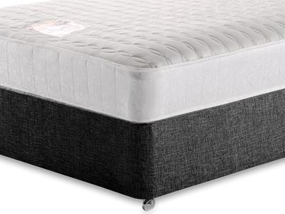 Snuggle Beds Pocket Memory Ortho 1000 5 King Size Mattress with Executive Black King Size No Drawers Divan Set