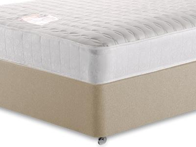 Snuggle Beds Pocket Memory Ortho 1000 4 6 Double Mattress with Executive Sandstone Double 4 Drawer Divan Set